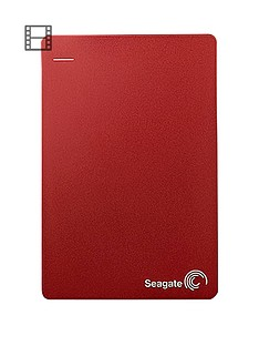 Seagate 4Tb Backup Plus Portable Hard Drive with Optional 2 Year Data Recovery Plan - Red