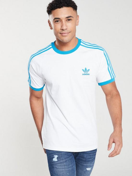 adidas Originals adidas Originals 3 Stripes Tee (Clear Blue) Women's T Shirt from Zappos | People