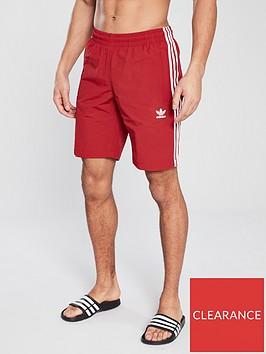 adidas-originals-3-stripe-swim-shorts-red