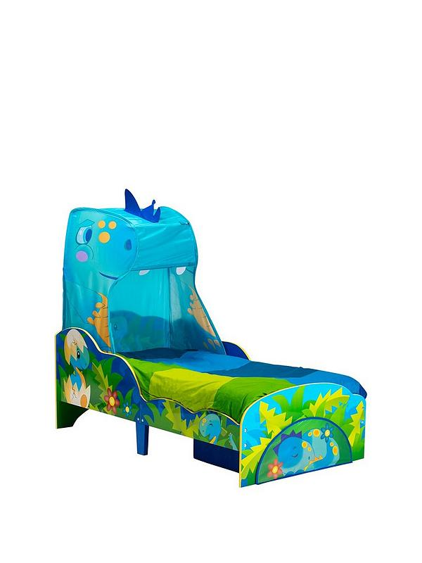 quality design e2b3c 8f383 Dinosaur Toddler Bed with Storage and Canopy