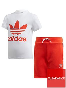 adidas-originals-boys-shorts-and-short-sleeve-t-shirt-set-whitered