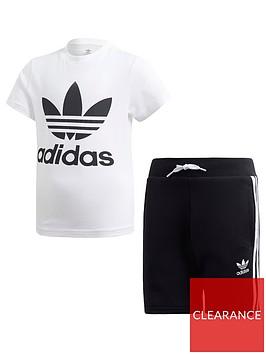 adidas-originals-boys-shorts-and-short-sleeve-t-shirt-set-whiteblack