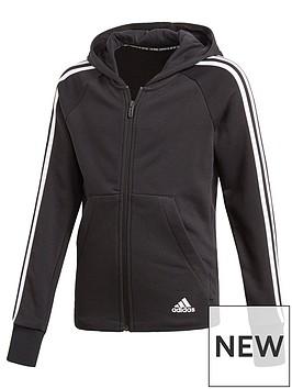 adidas-girls-mh-3-stripe-full-zip-hoodie-black