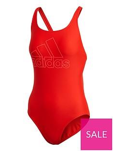 adidas-badge-of-sport-swimsuit-rednbsp