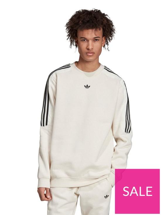 3f17628faa7 adidas Originals Radkin Crew Neck Sweat - Ecru | very.co.uk