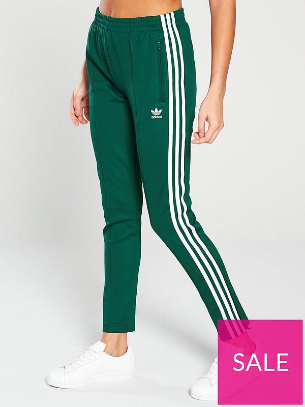 new product 37774 bb25a adidas Originals Superstar Track Pant - Green