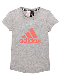 99a695858be9 adidas Girls MH BOS Tee