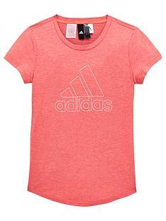 cheap for discount 90a97 fb1d1 adidas Girls ID Winner T-Shirt - Pink