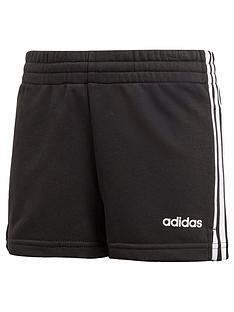 adidas-girls-3-stripe-shorts-black