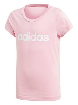adidas-girls-linear-tee