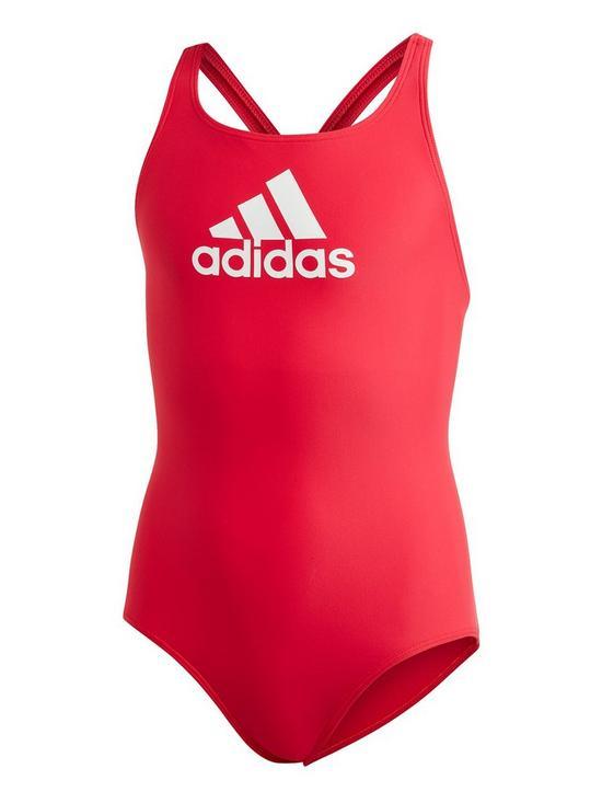 ffcfdbe2f3c0d adidas Girls Ya Bos Swim Suit - Pink | very.co.uk