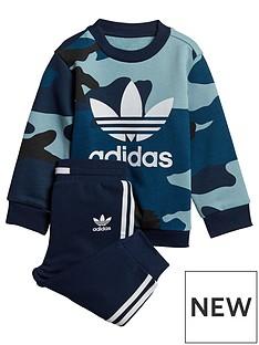 adidas Originals Baby Boys Camo Crew Set - Multi 3c7ae3fcb37e