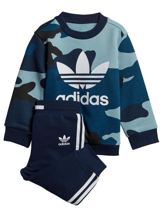 c82fd19e adidas Originals Baby Boys Camo Crew Set - Multi | very.co.uk