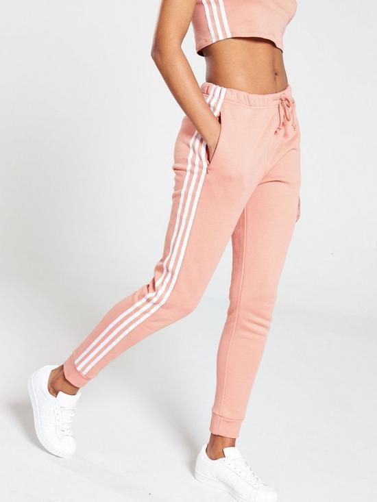 ec9d6ee6294 adidas Originals Regular Cuffed Track Pants - Pink | very.co.uk