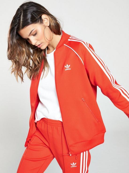 8bc4ecea0207 adidas Originals Track Jacket - Red