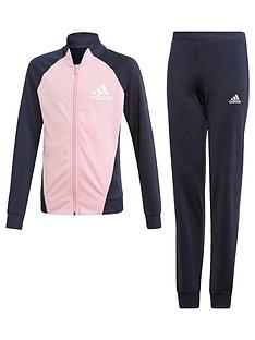 adidas-girls-tracksuit-navy