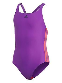 adidas-girls-fit-3-stripe-swimsuit-purple