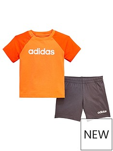 adidas-baby-boy-linear-short-amp-t-shirt-set-orange