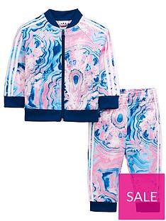 c656e0680 adidas Originals Adidas Originals Baby Girls Marble Superstar Tracksuit Set