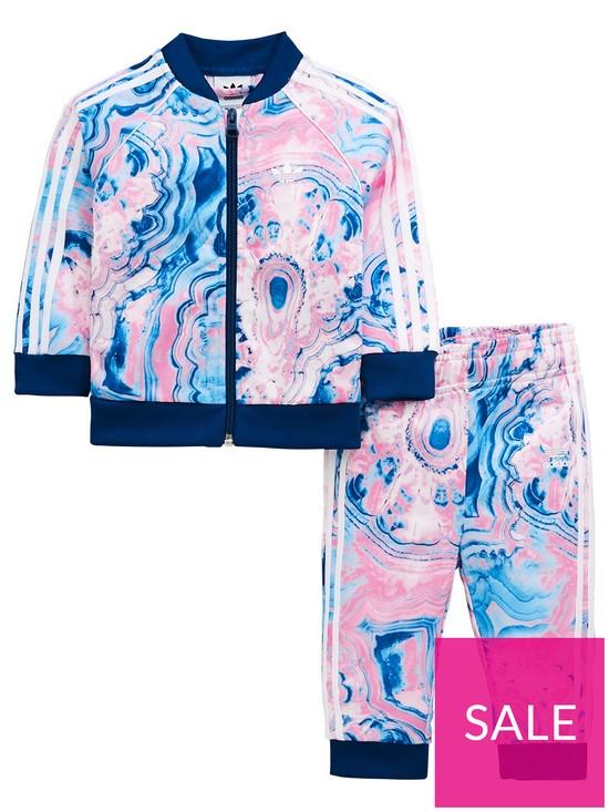 innovative design 6fea6 62460 adidas Originals Adidas Originals Baby Girls Marble Superstar Tracksuit Set    very.co.uk