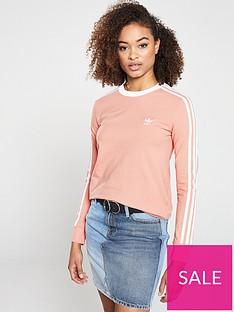 adidas-originals-3-stripe-long-sleeve-tee-pinknbsp