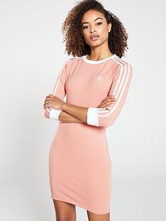 bd665dee5b7 adidas Originals 3 Stripes Dress - Pink