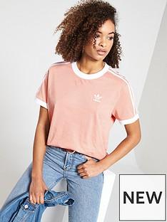 88563a35f585 adidas Originals 3 Stripes Tee - Pink
