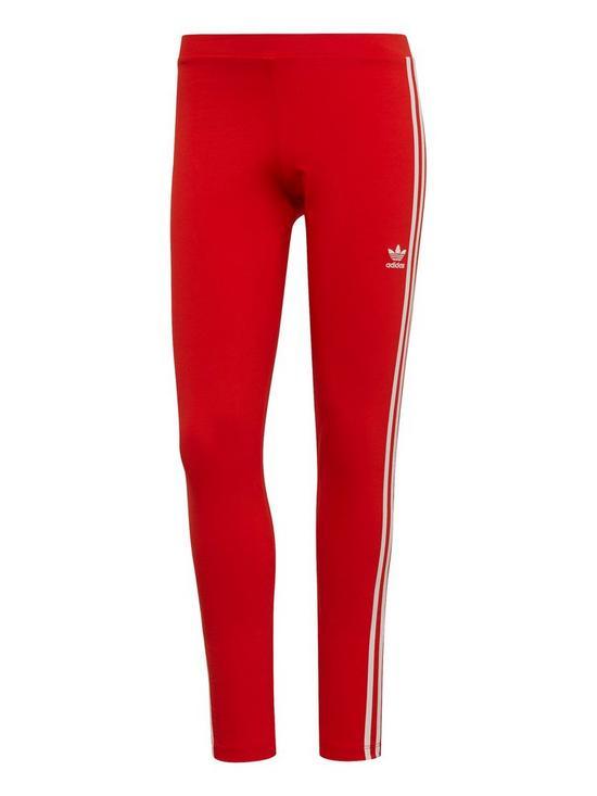 6d878dcb9974e adidas Originals 3 Stripes Tight - Red   very.co.uk