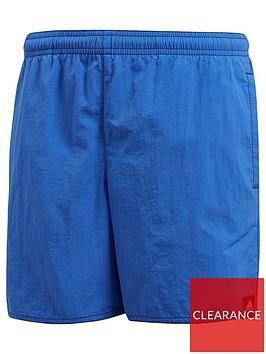 adidas-boys-solid-colour-swim-short