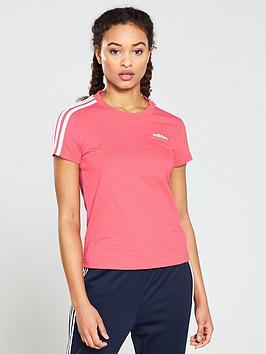 adidas-essential-3-stripes-slim-tee-pink
