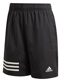 6bbd372d5489c5 adidas Boys Tr 3 Stripe Shorts - Black