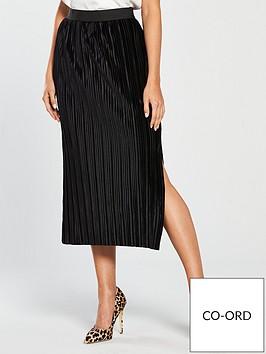 river-island-river-island-velvet-plisse-midi-skirt-black
