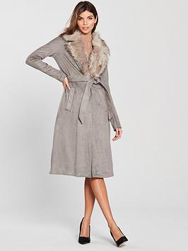 river-island-river-island-suedette-faux-fur-collar-robe-coat-grey