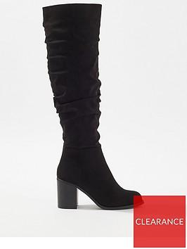miss-selfridge-slouchy-knee-high-boot-black
