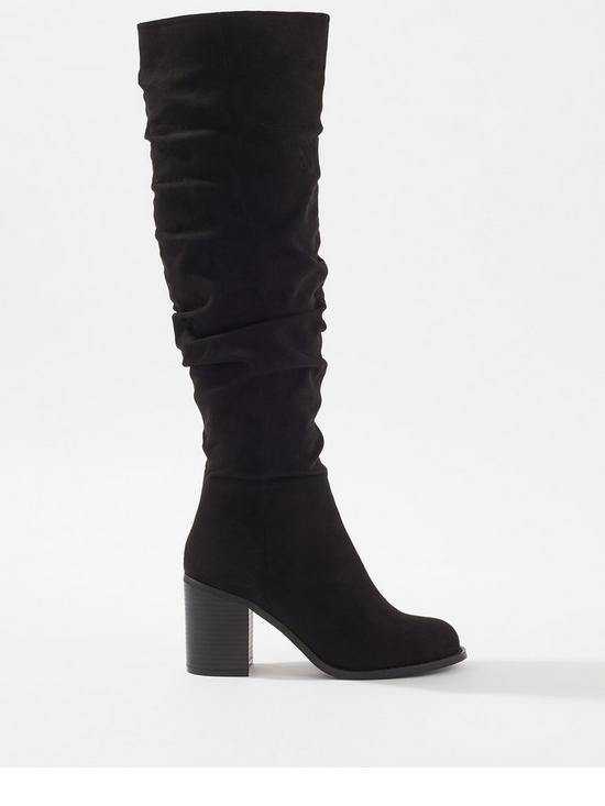 9fe2363ebc7 Slouchy Knee High Boot - Black