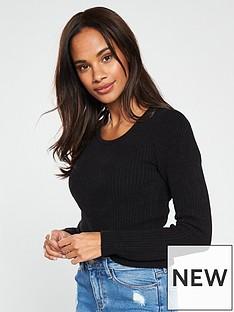 v-by-very-scoop-neck-jumper-black