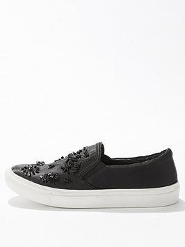 miss-selfridge-texas-embellished-skater-black