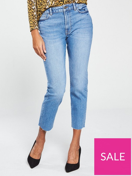 29e8c929 V by Very Straight Leg Girlfriend Jeans - Vintage | very.co.uk