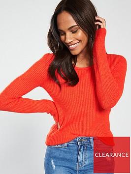 v-by-very-scoop-neck-jumper-orange