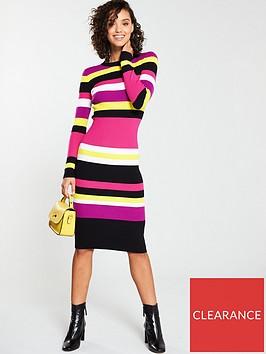 v-by-very-skinny-rib-stripe-midi-knitted-dress-stripe