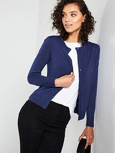 3807a0e083d928 V by Very Supersoft Crew Neck Cardigan - Navy