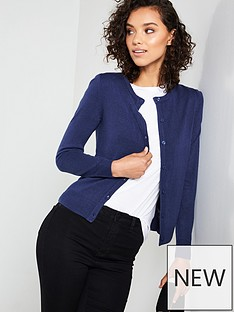 750e9150d20a V by Very Supersoft Crew Neck Cardigan - Navy