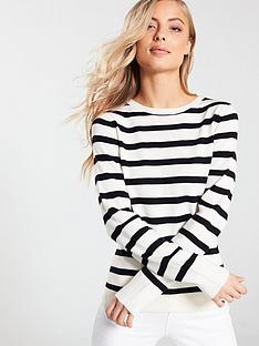 a134207fef2eea V by Very Supersoft Crew Neck Jumper - Stripe