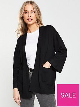 v-by-very-kimono-sleeve-edge-to-edge-cardigan-blacknbspbr-br