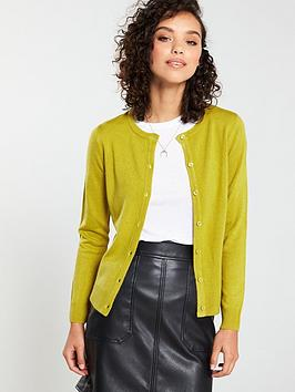 v-by-very-supersoft-crew-neck-cardigan-lime