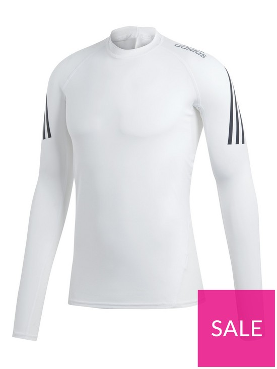 741dae5e adidas Alpha Skin 3S Long Sleeve Tee - White | very.co.uk