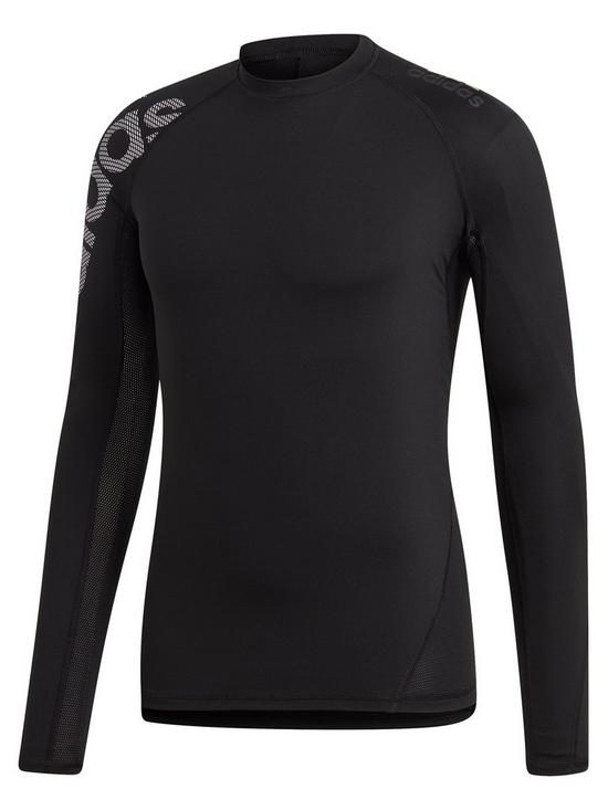 7726f52b983 Very Long Adidas co Sleeve Alpha Black Tee Skin Bos uk wZqFpOC