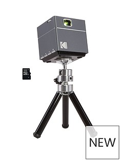 Kodak Wi-Fi Cube Pocket Pico Projector with Tripod and 32Gb Micro SD Card