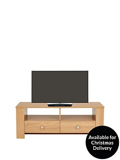 Madrid Oak-Effect TV Unit - fits up to 40 Inch TV