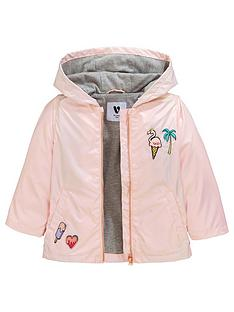 30cfef4ed8fa5 Mini V by Very Girls Shimmer Badge Detail Mac - Pink